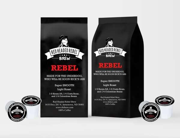 RHR Rebel Coffee Blend - Single Serve Cups - 20 Pack - Red Headed Rebel