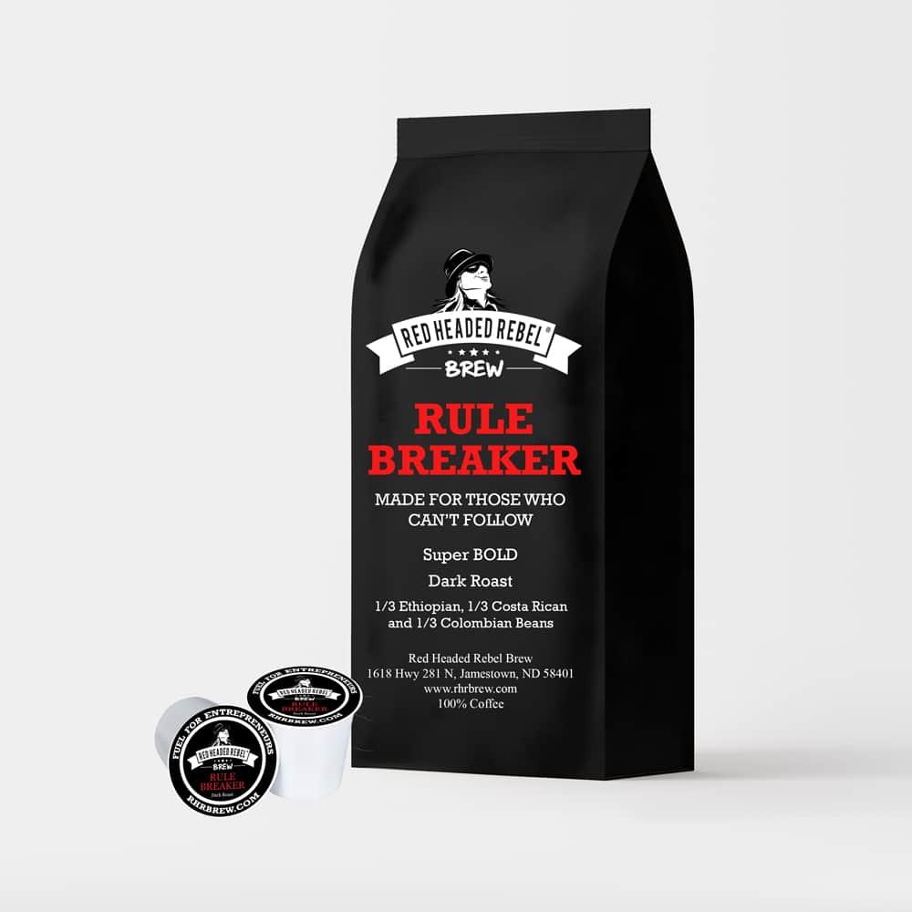 RHR Rule Breaker Coffee - Single Serve Cups - 10 Pack