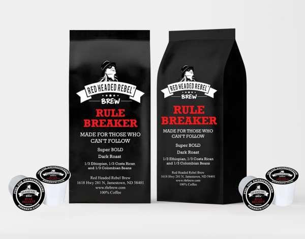 RHR Rule Breaker Coffee - Single Serve Cups - 20 Pack - Red Headed Rebel