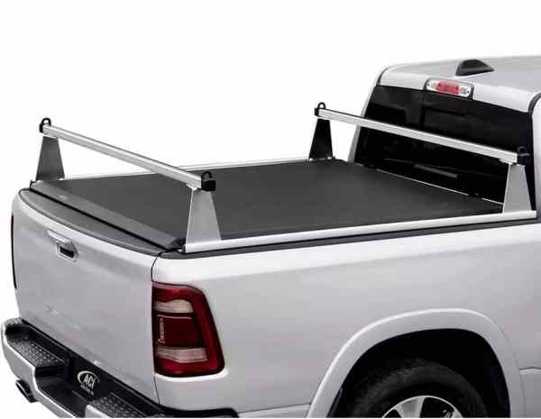 Rollup Tonneau & Sport Rack - Clear Aluminum