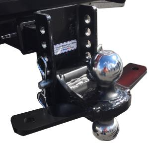 "Shocker XR Combo Ball Mount with Sway Control Tabs 12,000 lbs 8"" of Adjustment"
