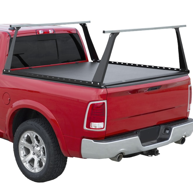 RHR Soft Rollup Tonneau Cover & Steel Track Rack Combo