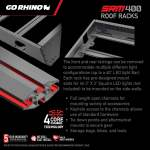 Crossbars has T-slots for rack accessories