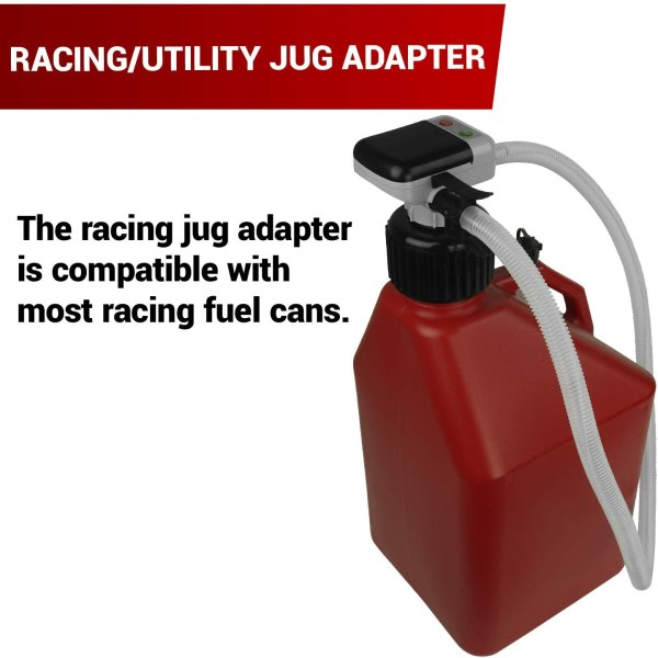 Compatible with Most Race Fuel Jugs