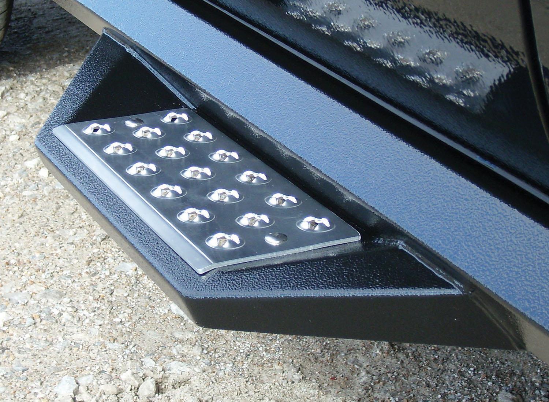Treadplate on Gloss Black HD Steps