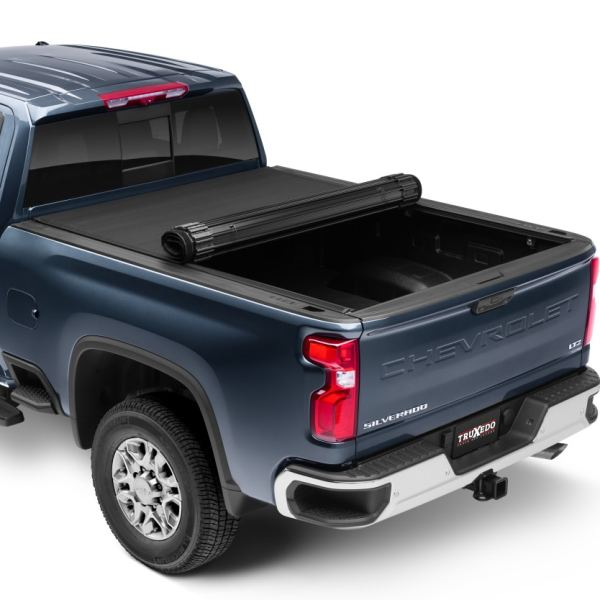 Truxedo Sentry CT Hard Rollup Tonneau Cover Half Rolled up