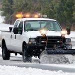Work Blade LED Lights on Snowplow Truck